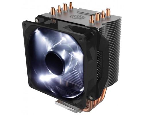 Кулер CPU Cooler Master Hyper H411R (универсальный, 95W, 29dB, 600-1200rpm, 92мм, 4pin, алюминий+медь, белая подсветка) RTL