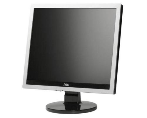 """МОНИТОР 17"""" AOC E719SDA Silver-Black (LED, LCD, 1280x1024, 5 ms, 170°/160°, 250 cd/m, 20M:1, +DVI, +MM)"""