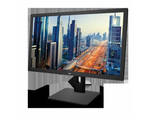 """МОНИТОР 21.5"""" AOC E2275PWQU Black с поворотом экрана (LED, 1920x1080, 1 ms, 170°/160°, 250 cd/m, 200M:1, +DVI, +HDMI, +DisplayPort, +4xUSB, +MM)"""