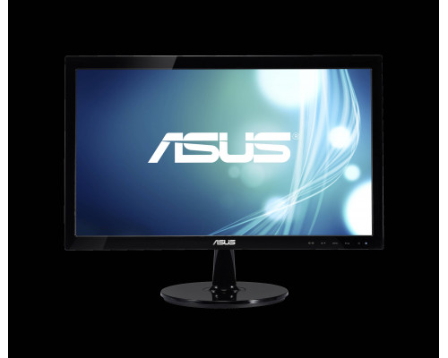 МОНИТОР 19.5'' ASUS VS207DF Black (LED, Wide, 1366x768, 5ms, 90°/65°, 200 cd/m, 80,000,000:1 )