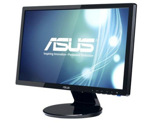 "МОНИТОР 19"" ASUS VE198S glossy-black (LED, LCD, Wide,1400 x900, 5 ms, 170°/160°, 250 cd/m, 10`000`000:1, MM)"
