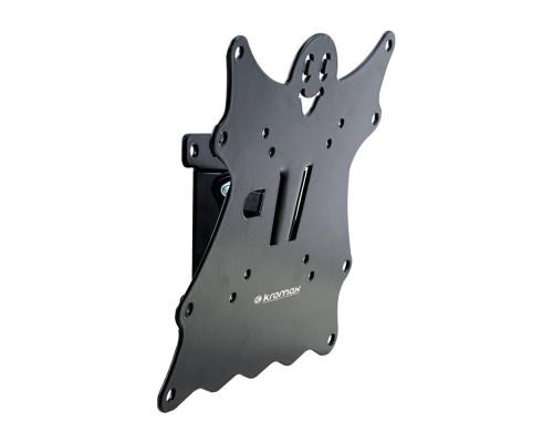 "Кронштейн Kromax CASPER-201 черный для TV 20""-43"", настенный наклонный, max VESA 200x200, от стены 50мм, наклон +5-15°, вращение ?5°, нагрузка до 30 кг"