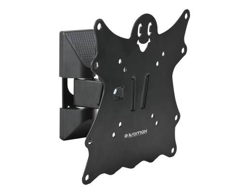 "Кронштейн Kromax CASPER-202 черный для TV 20""-43"", настенный наклонно-поворотный, max VESA 200x200, от стены 57-110мм, наклон +5-15°, поворот 90°, вращение ?5°,  нагрузка до 30 кг"