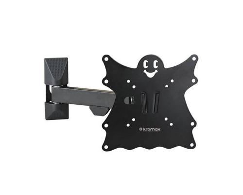 "Кронштейн Kromax CASPER-203 черный для TV 20""-43"", настенный наклонно-поворотный, max VESA 200x200, от стены 57-307мм, наклон -5+15°, поворот 180°, вращение ?5°,  нагрузка до 30 кг"