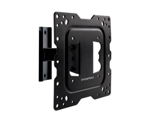 """Кронштейн Kromax DIX-16 черный для TV 22""""-55"""", настенный наклонно-поворотный, max VESA 400x400, от стены 92мм, наклон ?15°, поворот ?20°, вращение ?5°,  нагрузка до 30 кг"""