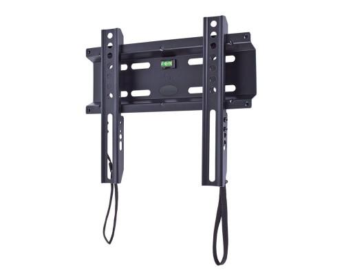 """Кронштейн Kromax FLAT-5 new черный для TV 15""""-47"""", настенный фиксированный, max VESA 200x200, от стены 28мм, нагрузка до 35 кг"""