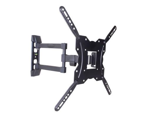 "Кронштейн Kromax GALACTIC-40 черный для TV 22""-65"", настенный наклонно-поворотный, max VESA 400x400, от стены 62-422 мм, наклон +3-10°, поворот 180°, нагрузка до 35 кг"