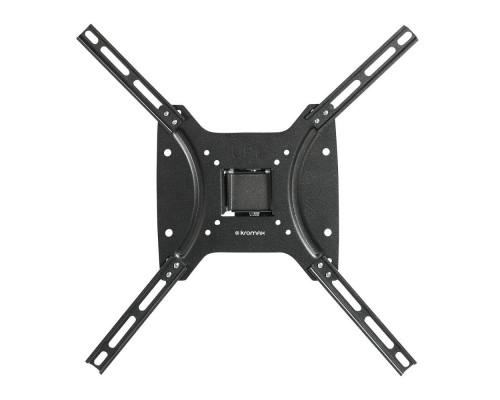 "Кронштейн Kromax OPTIMA-402 черный для TV 15""-55"", настенный наклонно-поворотный, max VESA 400x400, от стены 68.5 мм, наклон +5-12°, поворот ?30°, нагрузка до 25 кг"