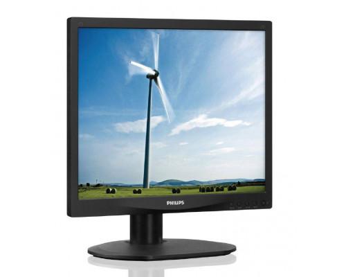 """МОНИТОР 17"""" PHILIPS 17S4LSB/00(01) Black (LED, LCD, 1280x1024, 5 ms, 170°/160°, 250 cd/m, 20M:1, +DVI)"""