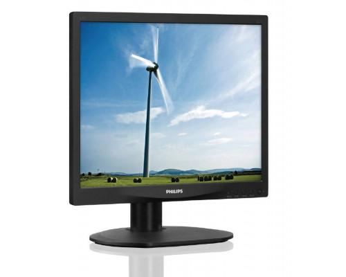 """МОНИТОР 17"""" PHILIPS 17S4LSB/62(10) Black (LED, LCD, 1280x1024, 5 ms, 170°/160°, 250 cd/m, 20M:1)"""