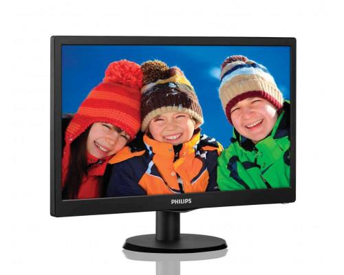 """МОНИТОР 18.5"""" PHILIPS 193V5LSB2/10(62) Black (LED, LCD, 1366x768, 5 ms, 90°/65°, 200 cd/m, 10M:1)"""