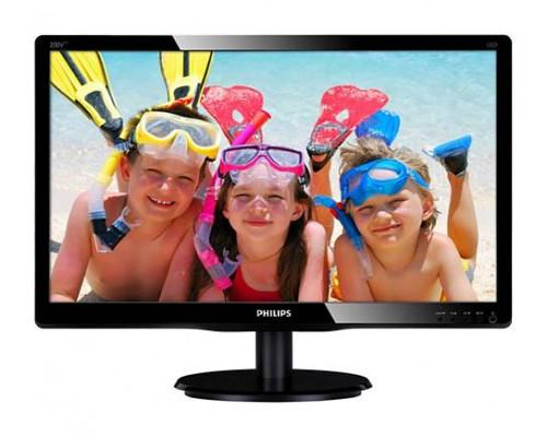 """МОНИТОР 19.5"""" PHILIPS 200V4LAB2/00 Black (LED, 1600x900, 5 ms, 90°/65°, 200 cd/m, 10M:1, +DVI, +MM)"""