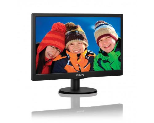 """МОНИТОР 19.5"""" PHILIPS 203V5LSB26/62(10) Black (LED, LCD, Wide, 1600x900, 5 ms, 90°/50°, 200 cd/m, 10M:1)"""