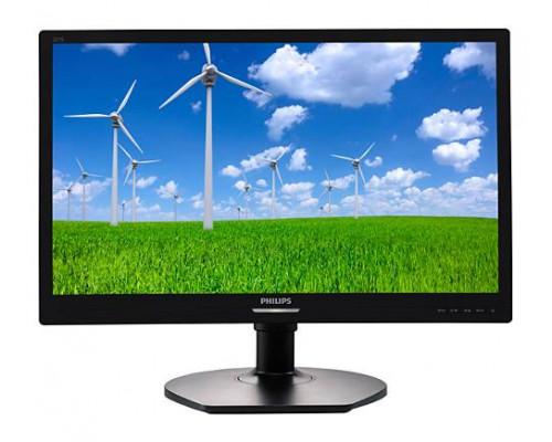 """МОНИТОР 21.5"""" PHILIPS 221S6LCB/00 Black с поворотом экрана (LED, 1920x1080, 5 ms, 170°/160°, 250 cd/m, 20M:1, +DVI)"""