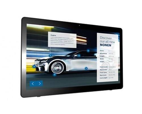 "Профессиональная панель 24"" PHILIPS 24BDL4151T/00 Black (Multi-Touch, LED, 1920x1080, 5 mc, 170°/160°, 250 cd/m, 1000:1, +HDMI, +3xUSB, +Micro USB, +RJ45, +WiFi, +WEB-Cam 2.0 mpx, +MM, +Android ОС)"