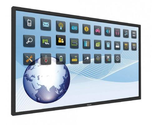 "Профессиональная панель 65"" PHILIPS BDL6526QT/00 Black (Multi-Touch, 1,07 млрд. цветов, LED, 1920x1080, 8 mc, 178°/178°, 350 cd/m, 5000:1, DisplayPort, 2xHDMI, DVI, USB, RJ45)"