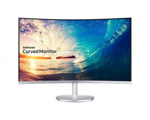 """МОНИТОР 27"""" Samsung C27F591FDI Glossy-White (VA, LCD, LED, curved, 1920x1080, 4 ms (GTG), 178°/178°, 250 cd/m, 3000:1, +HDMI, +DP, +MM)"""