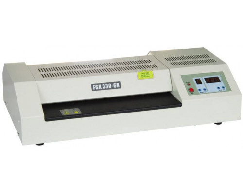 Ламинатор YIXING FGK330-6R, 330 мм,  (до 250 мкм), 300 - 1600 мм/мин., 6 валов /t С: 100-160 / профессиональный / Китай.