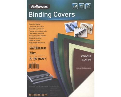 Обложки Delta A4,  Fellowes?, белые, 100 шт., картон с тиснением под кожу