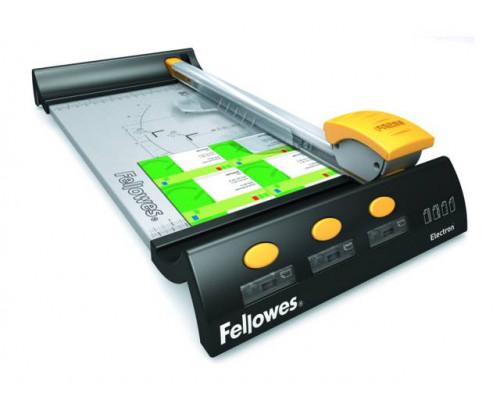 Резак дисковый Fellowes?, ELECTRON A4, 10 лст., SafeCut?, 4 картриджа (прямой, биговка, пунктир, волна), SafeCut?Guide