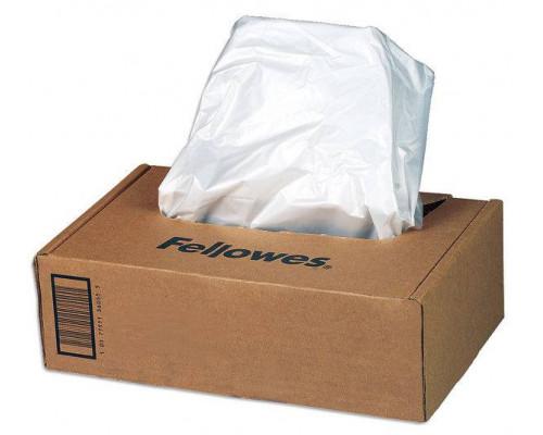 Мешки для мусора Fellowes? Для легкого извлечения мусора из корзины шредера. Объем 227 литров. 50 шт. в упаковке.
