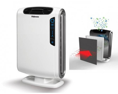 Воздухоочиститель Fellowes? AeraMax? DX55, сенсор, удаляют из воздуха 99,97% вредных примесей, площадь  до 18 кв.м.