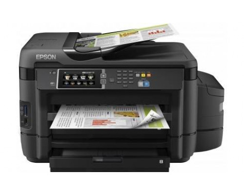 Фабрика Печати Epson L1455, А3+, 4 цв., копир/принтер/сканер/факс, лоток 500л, ADF, Duplex, Ethernet, USB, WiFi, Wireless PictBridge
