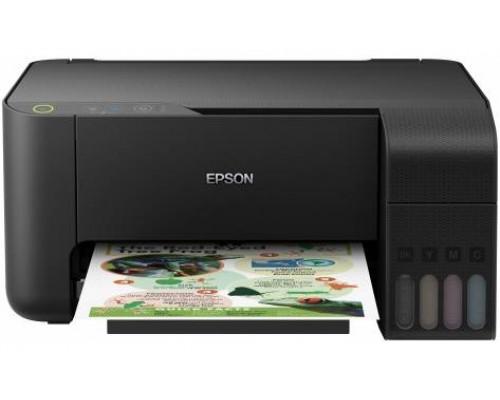 Фабрика Печати Epson L3110 (формат А4, разрешение 5760х1440 dpi, область печати 210х297 мм, скорость чёрно-белой печати 33 стр./мин., скорость цветной печати 15 стр./мин., разрешение копира 600х1200 dpi, планшетный сканер, тип датчика сканера CIS, разреше