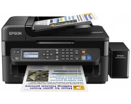 Фабрика Печати Epson L566, А4, 4 цв., копир/принтер/сканер/факс, Duplex, Ethernet, USB, WiFi