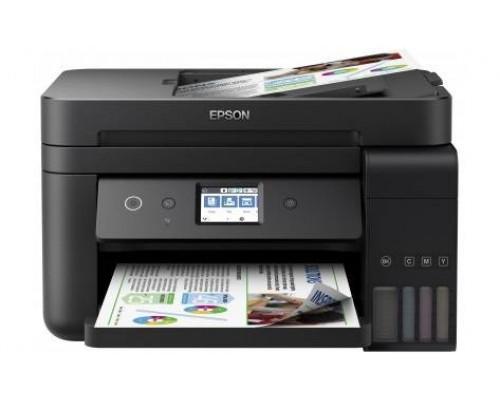 Фабрика Печати Epson L6190, А4, 4 цв., копир/принтер/сканер, лоток 250л, ADF, Duplex, Ethernet, USB, WiFi