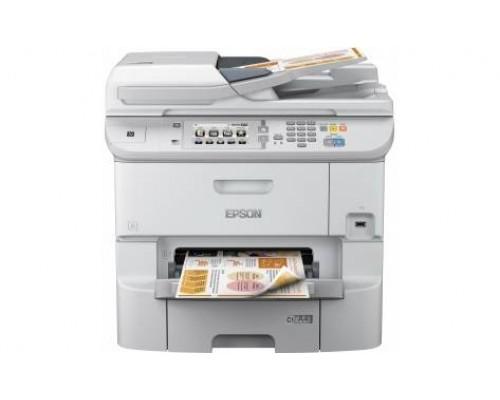 МФУ струйный 4 цв. Epson WorkForce Pro WF-6590DWF, А4, лоток 580л, копир/принтер/сканер/факс, ADF, Duplex, Ethernet, USB, WiFi