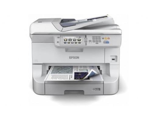 МФУ струйный 4 цв. Epson WorkForce Pro WF-8590DWF, A3+, лоток 330л, копир/принтер/сканер/факс, ADF, Duplex, Ethernet, USB, WiFi