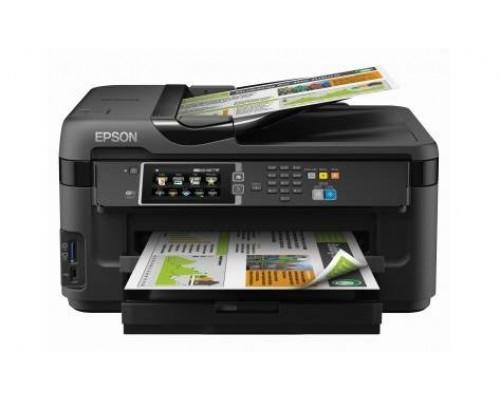 МФУ струйный 4 цв. Epson WorkForce WF-7610DWF, А3+, копир/принтер/сканер/факс, лоток 500л, ADF, Duplex, Ethernet, USB, WiFi