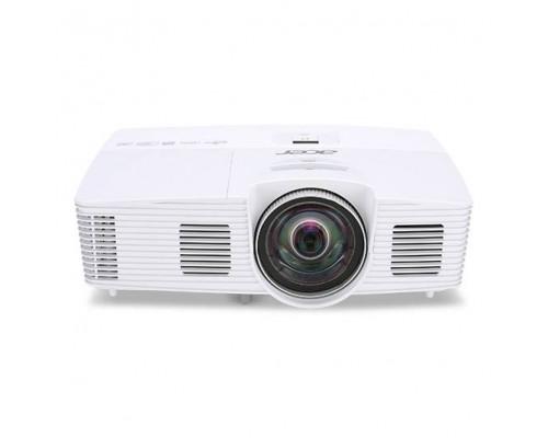 Проектор Acer S1283e (DLP, XGA 1024x768, 3100Lm, 13000:1, 1x10W speaker, 3D Ready, lamp 8000hrs, short-throw, WHITE, 2.8kg)