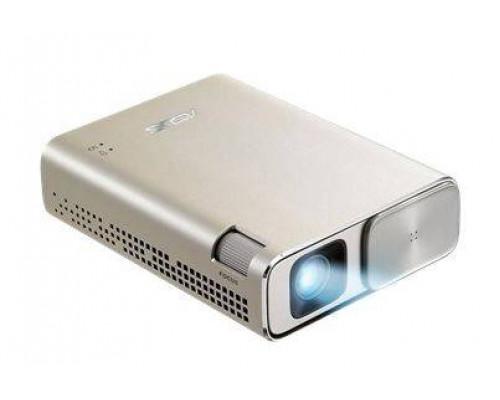 Проектор ASUS ZenBeam E1Z (DLP, LED, WVGA 854x480, 150Lm, 3500:1, MicroUSB, 1x2W speaker, led 30000hrs, battery, Icicle Gold, 0.31kg)