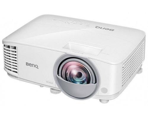 Проектор BENQ MW826ST (DLP, WXGA 1280x800, 3400Lm, 20000:1, +2xНDMI, MHL, 1x10W speaker, 3D Ready, lamp 5000hrs, short-throw, WHITE, 2.60kg)