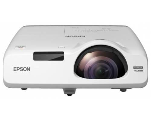 Проектор Epson EB-525W (LCD, WXGA 1280x800, 2800Lm, 16000:1, HDMI, USB, LAN, 1x16W speaker, lamp 10000hrs, short-throw, WHITE, 3.7kg)