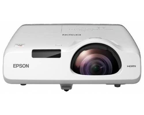 Проектор Epson EB-530 (LCD, XGA 1024x768, 3200Lm, 16000:1, HDMI, USB, LAN, 1x16W speaker, lamp 10000hrs, short-throw, WHITE, 3.7kg)