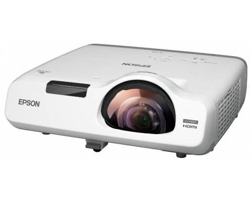 Проектор Epson EB-535W (LCD, WXGA 1280x800, 3400Lm, 16000:1, HDMI, USB, LAN, 1x16W speaker, lamp 10000hrs, short-throw, WHITE, 3.7kg)