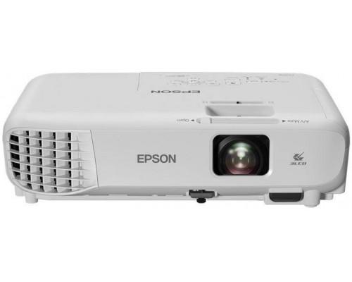 Проектор Epson EB-X05 (LCD, XGA 1024x768, 3300Lm, 15000:1, HDMI, USB, 1x2W speaker, lamp 10000hrs, WHITE, 2.5kg)