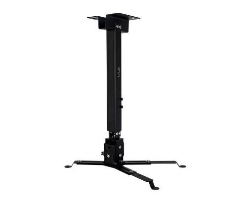 Крепление настенно-потолочное VLK TRENTO-82 черный для проектора, 2 ст свободы, наклон ?15°, поворт ?15°, от потолка 410-640 мм, нагрузка до 15 кг