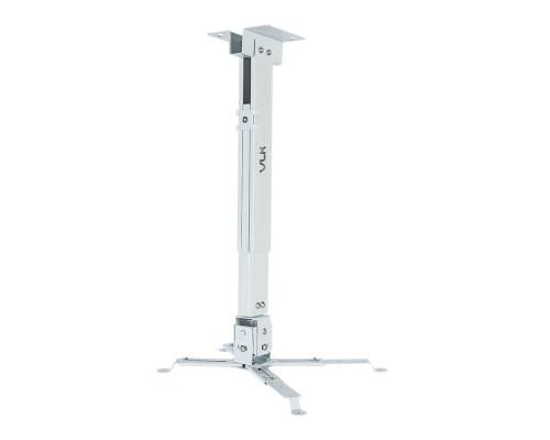 Крепление настенно-потолочное VLK TRENTO-82W белый для проектора, 2 ст свободы, наклон ?15°, поворт ?15°, от потолка 410-640 мм, нагрузка до 15 кг