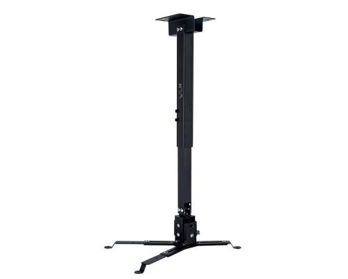 Крепление настенно-потолочное VLK TRENTO-83 черный для проектора, 3 ст свободы, наклон ?15°, поворт ?15°, от потолка 630-1000 мм, нагрузка до 15 кг
