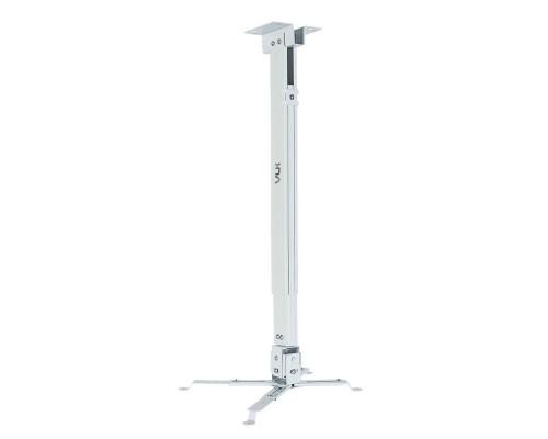 Крепление настенно-потолочное VLK TRENTO-83W белый для проектора, 3 ст свободы, наклон ?15°, поворт ?15°, от потолка 630-1000 мм, нагрузка до 15 кг