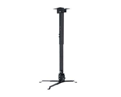 Крепление настенно-потолочное VLK TRENTO-84 черный для проектора, 3 ст свободы, наклон ?15°, поворт ?15°, от потолка 700-1200 мм, нагрузка до 15 кг