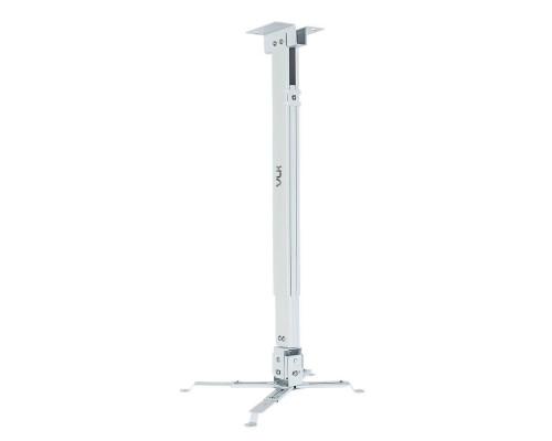 Крепление настенно-потолочное VLK TRENTO-84W белый для проектора, 3 ст свободы, наклон ?15°, поворт ?15°, от потолка 700-1200 мм, нагрузка до 15 кг