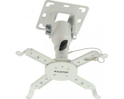 Крепление потолочное Kromax PROJECTOR-10 белый для проектора, 3 ст свободы, наклон 30°, вращение на 360°, от потолка 155 мм, нагрузка до 20 кг