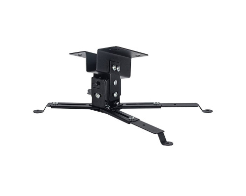 Крепление потолочное VLK TRENTO-81 черный для проектора, 2 ст свободы, наклон ?15°, поворт ?15°, от потолка 125 мм, нагрузка до 15 кг