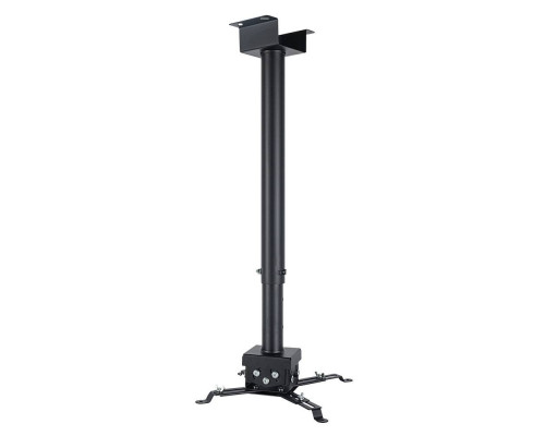 Крепление потолочное VLK TRENTO-85 черный для проектора, 3 ст свободы, наклон ?15°, поворт ?15°, от потолка 750-1500 мм, нагрузка до 15 кг
