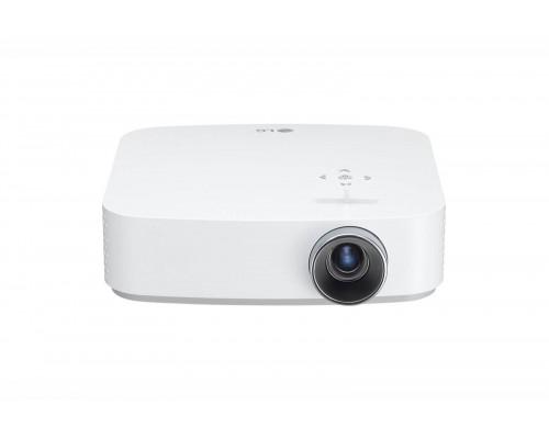 Проектор LG PF50KS (DLP, LED, 1080p 1920x1080, 600Lm, 100000:1, 2xHDMI, LAN, USB, USB Type-C, 2x1W speaker, WiFi, Bluetooth, 3D Ready, SmartTV, webOS 3.5, led 30000hrs, battery, WHITE, 1.0kg)